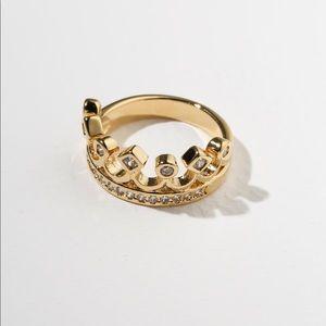 New Vanessa Mooney the unisex crown ring gold